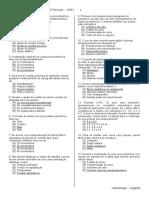Exame Final – Protese Fixa – 5º Período – 1001