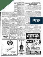 registro La Vanguardia del Cerdanyola de balon a mano siete de 1954