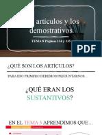 Artículos y demostrativos