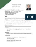 HOJA DE VIDA SANTIAGO FRANCO OSORIO