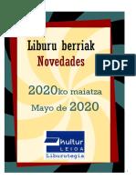 2020ko maiatzeko liburu berriak -- Novedades de mayo del 2020