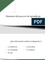 Elementos del proyecto de aprendizaje