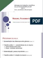 3 - Resumo_Fichamento_Resenha 2017