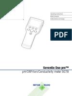 Multiparametro Mettler Toledo SG78