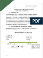 PROCESAMIENTO DE VALORIZACIONES POR DEDUCTIVOS DE OBRA