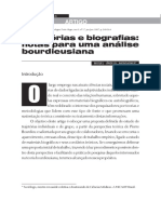 Trajetórias e biografias - notas para uma análise bourdieusiana