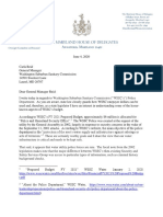 Korman Letter to WSSC RE Police Department