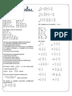 Ficha 02 - Os números e suas propriedade