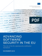 ENISA Report - Advancing Software Security in the EU