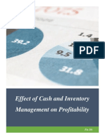 Effect of cash and inventory management on profitability