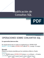 Modificado de Consultas SQL