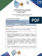 Excel Guía de Actividades y Rubrica de Evaluación - Tarea 4 - Formularios y Macros
