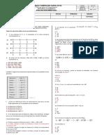 Evaluación Bimestral Math Septimo