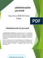 Función administración de personal presentacion