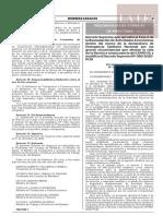 Decreto Supremo N°101-2020-PCM