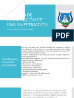 PROCESO DE ELABORACIÓN DE UNA INVESTIGACIÓN