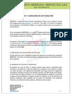 TÉRMINOS Y CONDICIONES DE USO PÁGINA WEB M+S