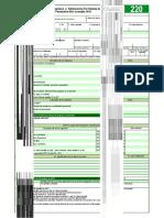 Formulario 220 editable