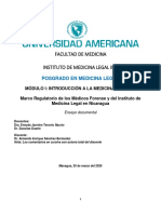 Marco Regulatorio de los Médicos Forense y del Instituto de Medicina Legal en Nicaragua