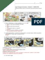 Avaliação 3 Gramática - 1º BI - Gabarito
