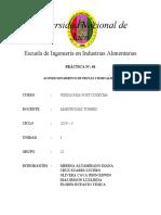 INFORME 01 FISIOLOGIA POST COSECHA