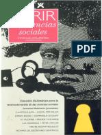 Abrir las ciencias sociales -Wallerstein