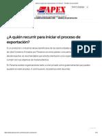 Manual o guía para exportaciones en Panamá - Trámites de exportación