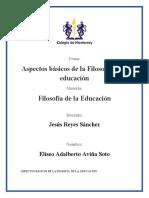 ASPECTOS BASICOS DE LA FILOSOFIA DE LA EDUCACION (ELISEO)