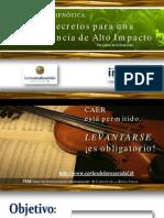 Curso Persuasion Hipnotica 10 Secretos Para Un Conferencia de Alto Impacto - Carlos de la Rosa Vidal