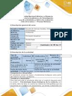 Guía de actividades y rúbrica evaluacion - Ciclo de la Tarea 1-Proceso Nervioso