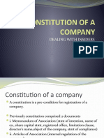 CONSTITUTION OF A COMPANY