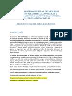 PROTOCOLOS DE BIOSEGURIDAD ALC 2020