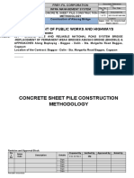 concrete sheet pile methodology
