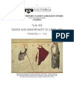 Death and Immortality in Greek Art Bibliography