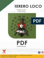 sombrerero loco manual