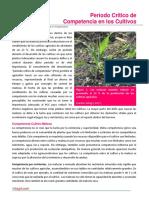 103. Periodo Critico de Competencia en los Cultivos (1)