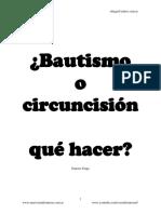 Bautismo o circuncisión qué hacer