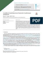 A multilevel leadership process framework of performance management.pdf