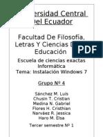 Informe instalación win7 (Sis. Operativos)