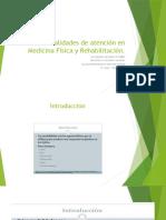 Modalidades de Atención en Medicina Física y Rehabilitación
