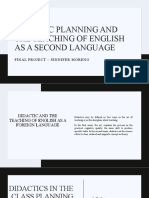 Didactic Planning and the Teaching of English as