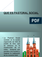 QUE ES PASTORAL SOCIAL