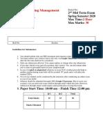 MID 2 Marketing Management SP2020