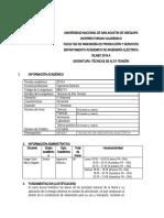 Silabo Técnicas de Alta Tensión DUFA 2020A