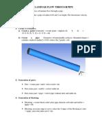 laminar flow through pipe