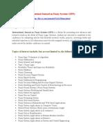 International Journal an Fuzzy Systems (IJFS)