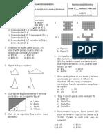 Evaluación Diagnóstica matematicas