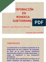 PERFORACIÓN EN MINERÍA SUBTERRÁNEA
