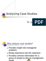 Analyzing Case Studies
