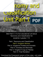 Taxonomy and Classification Unit Part II/Vi for Educators - Download unit at www. science powerpoint .com
